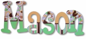 """mason's patterns 8"""" wooden hanging letters"""
