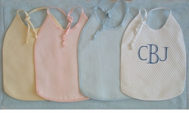 matelasse bibs from sweet william