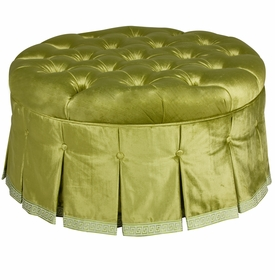 Mayfair Round Ottoman Majestic Lime Green