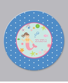 mermaid plate - personalized