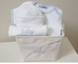 mini boy layette gift basket