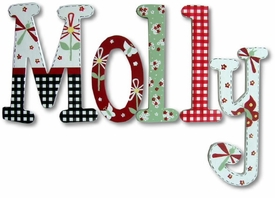 """molly's garden 8"""" wooden hanging letters"""