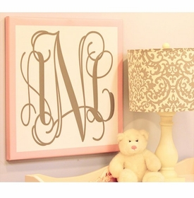 monogram canvas wall art