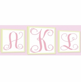 monogram wall art set