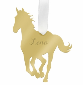 moon and lola horse christmas ornament - gold