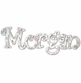 """morgans roses 8"""" hand painted wall letters"""