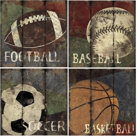 my sports canvas (set of 4)