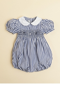 navy stripe bubble with sleeves