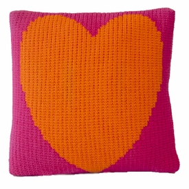 non-personalized pillow with heart