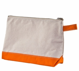 orange personalized  makeup bag