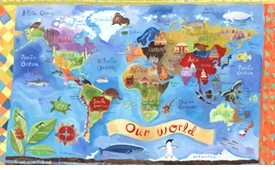 our world - wall art by donna ingemanson