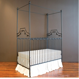 parisian 3 in 1 crib - distressed black