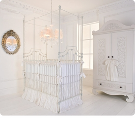 parisian 3 in 1 crib - distressed white