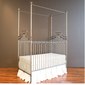 parisian 3 in 1 crib - pewter