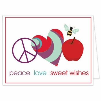 peace love sweet wishes (set of 10)