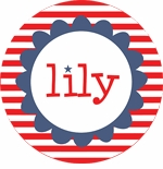 personalized 4th of July  holiday plate (style 1p)
