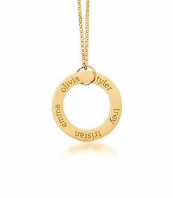personalized 5 Name 24K Gold Plated Open Loop
