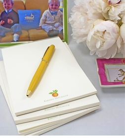 personalized 5x7 inch note pads (set of 4)
