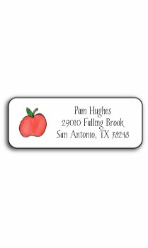 personalized address labels � apples to apples