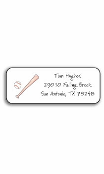 personalized address labels – baseball buff