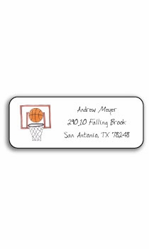 personalized address labels – basketball star
