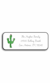 personalized address labels – blooming cactus