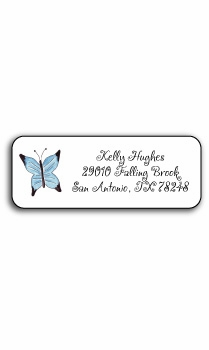 personalized address labels � butterfly garden