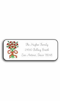 personalized address labels – coming up roses