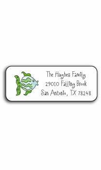 personalized address labels – fish in the sea