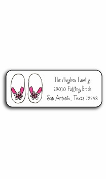 personalized address labels � flip flops
