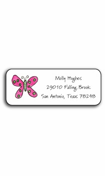 personalized address labels – flutter butterfly