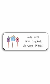 personalized address labels � for the birds