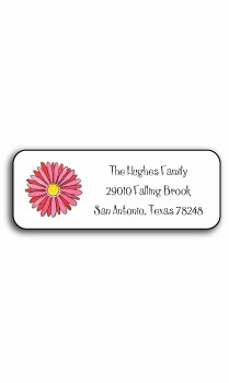 personalized address labels – gerber daisy