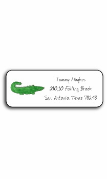personalized address labels � green gator