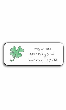 personalized address labels – lucky clover