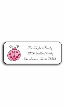 personalized address labels � lucky ladybugs