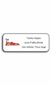 personalized address labels – on your mark