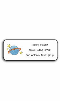 personalized address labels � outer space