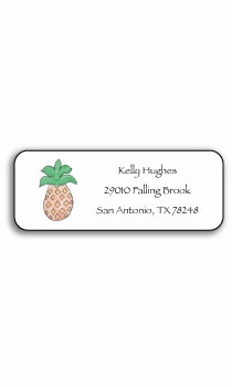 personalized address labels – pineapple