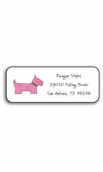 personalized address labels � preppy pink
