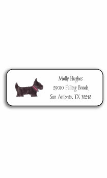 personalized address labels – preppy pups