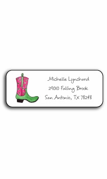 personalized address labels � rhinestone cowgirl