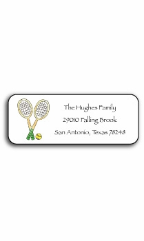 personalized address labels – tennis pro