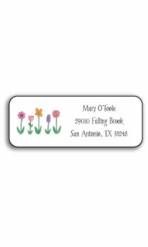 personalized address labels � wild flowers