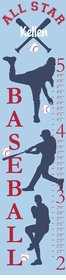 personalized all start baseball canvas growth chart