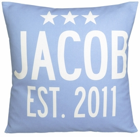 personalized baby announcement stars pillows