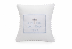 personalized baby christening pillow