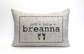 personalized baby pillow - baby footprints