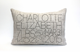 personalized baby pillow - the charlotte