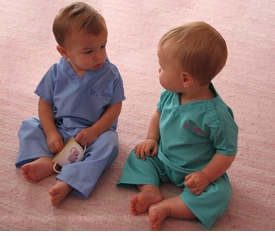 personalized baby scrubs